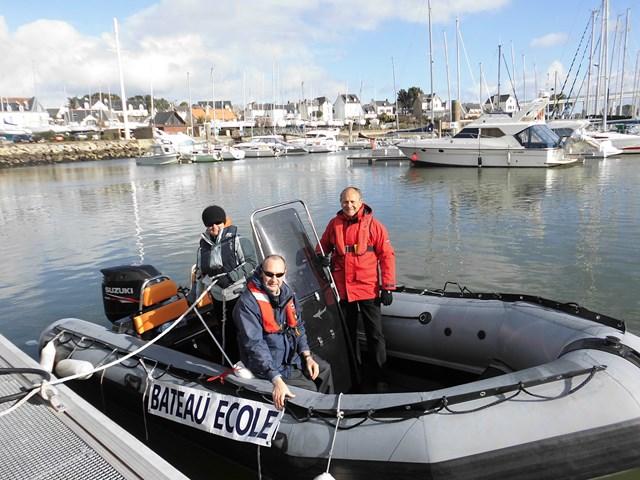 Passage de la pratique permis bateau côtier Morbihan sur Sillinger