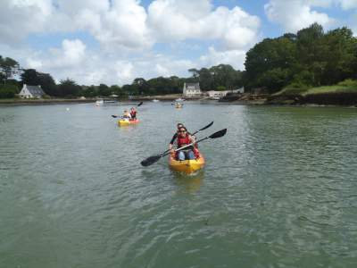 balade en kayak le long de la riviere de crac'h