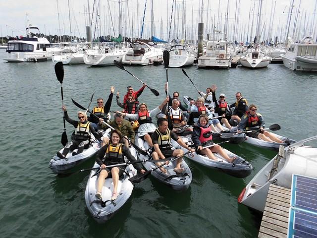sortie en kayak ou en paddle en groupe dans le morbiha